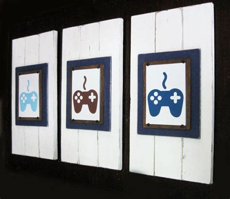 video game home decor set of 3 framed 5x7 video game art prints