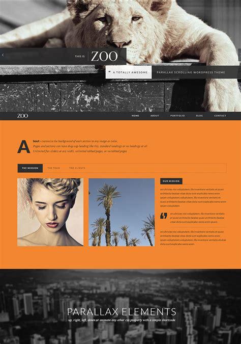 themeforest zoo 15 killer one page portfolio wordpress themes web