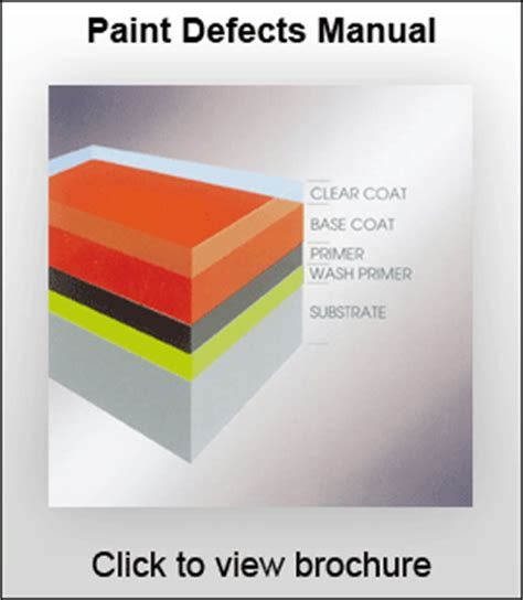 spray paint defects paint defects manual