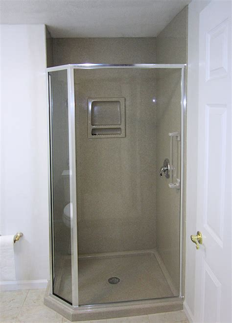 Onyx Collection Shower Base by Custom Shower Bases Rectangular Shower Base With Extraflat Drain Nonslip Right