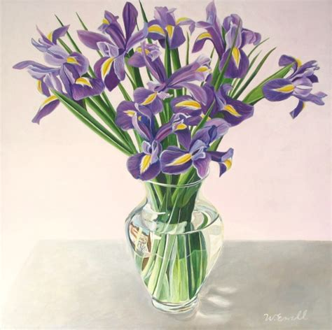 Irises In Vase wendy ewell irises in a clear vase