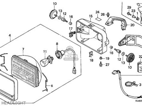 1985 honda fourtrax 250 parts honda trx250 fourtrax 1985 f canada parts list