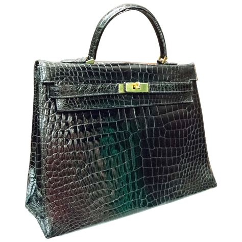 Bamford Ombre Crocodile Bag by Style Black Crocodile Handbag At 1stdibs