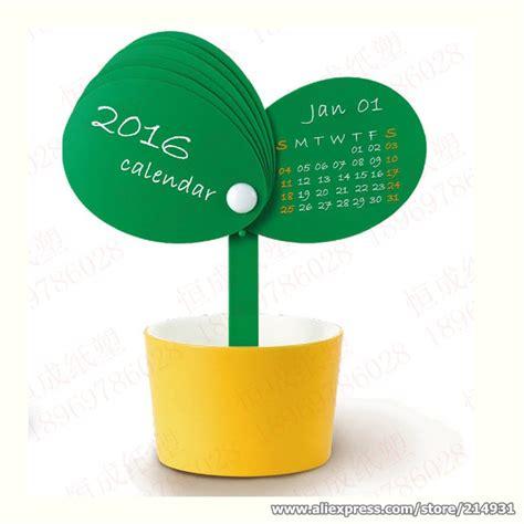 Novelty Desk Calendars by 2016 Novelty Table Calendar Bud Flowerpot Shaped Mini Desk