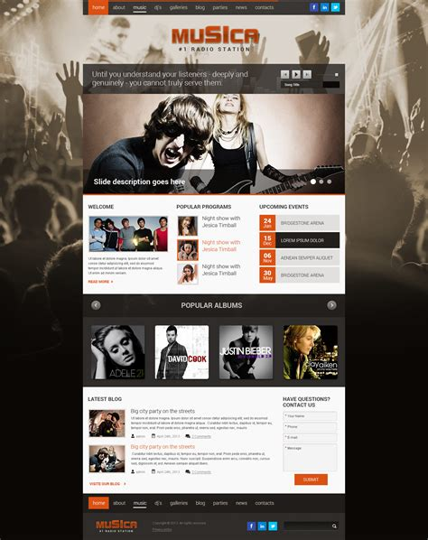 bootstrap themes free for music music bootstrap wordpress theme gridgum