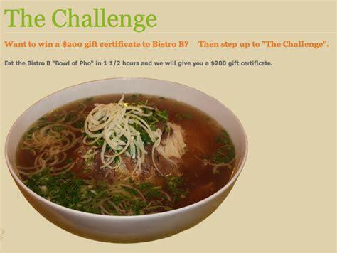 pho challenge pho challenge at bistro b dallas food