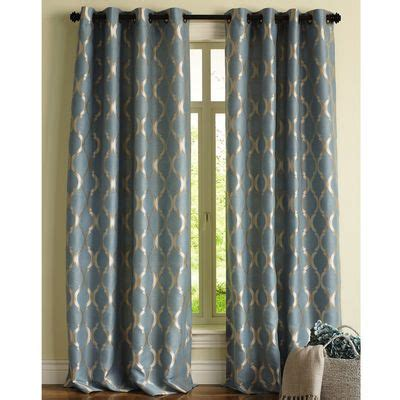 Moorish Tile Curtains Moorish Tile Curtain Smoke Blue Living Room