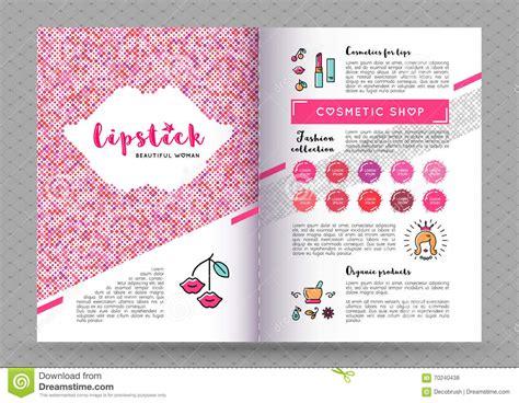 design banner kosmetik vector beauty brochure a4 makeup and lipstick flyer