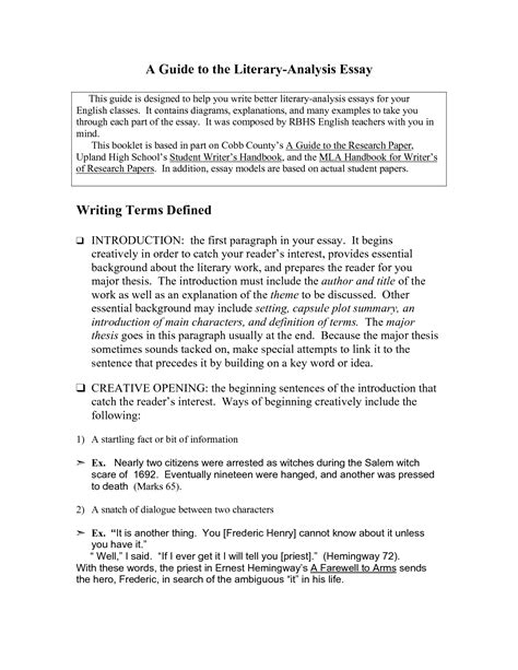 essay structure literature writing an analytical essay hatmat essay exle