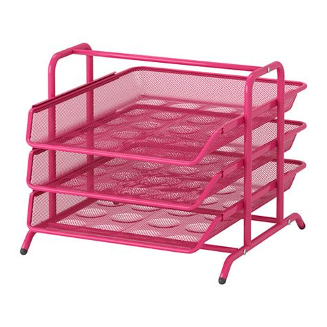 Paper Organizer For Desk Dokument Letter Tray Pink Ikea