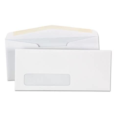 Business Letter Format For Window Envelopes Window Business Envelope 10 4 1 8 X 9 1 2 White 500 Box Webofficemart