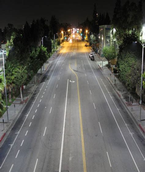 los angeles street lights los angeles completes world s largest led street light