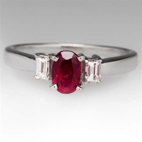 1 carat oval 1 carat oval ruby ring accents