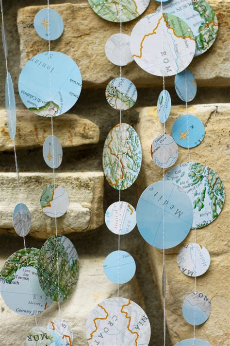 travel theme decor map garland travel theme wedding travel theme shower map