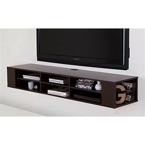 south shore city wall mounted media console in black oak south shore city 66 quot wide wall mounted media console