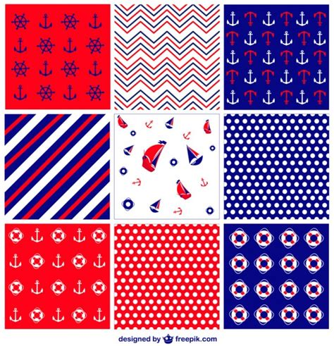 nautical pattern vector nautical pattern collection vector free download