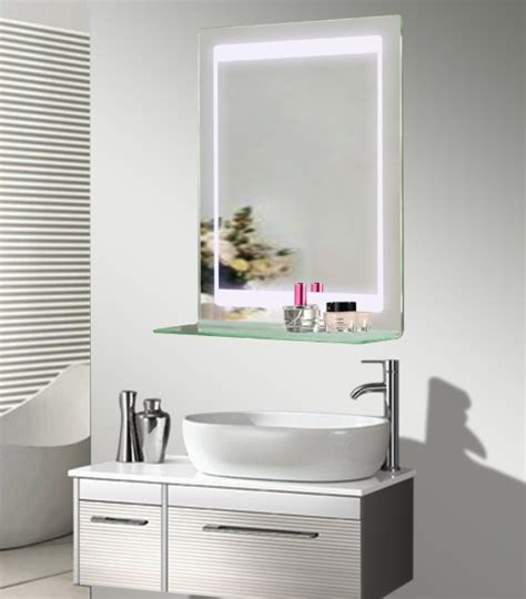 Rak Cermin Kamar Mandi dipimpin backlit kaca cermin kamar mandi dengan rak buy