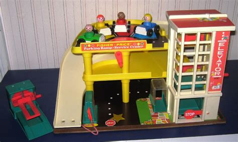 Fisher Price Garage Set by Judy S Vintage Fisher Price Complete Play Sets
