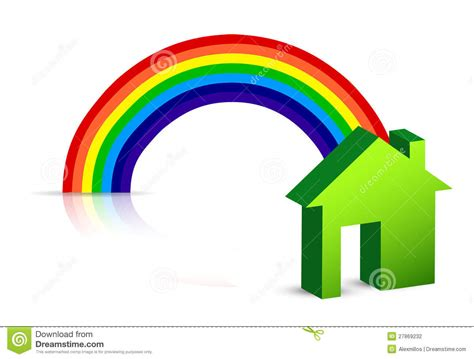 rainbow house rainbow and house stock photography image 27869232