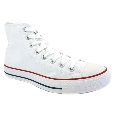 converse all chuck hi top canvas white unisex
