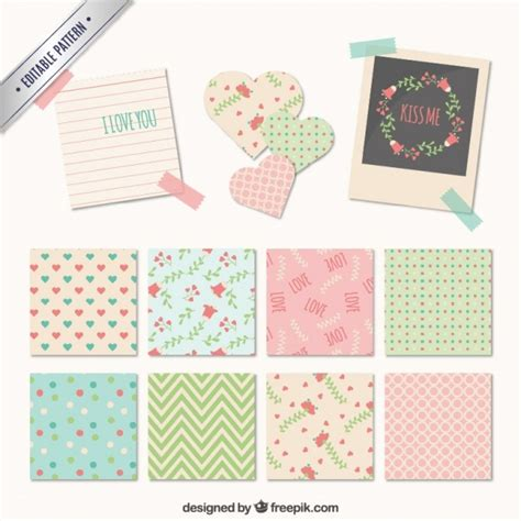 Pattern Making Notes Free | notes with cute patterns vector free download