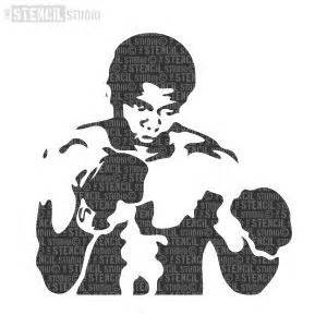 mohammed ali stencil by tbenk491 1854 best images about silhouete cameo on pinterest