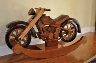 Hardwood Rocking Motorcycle On Etsy For Sale