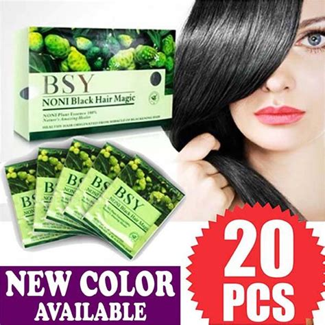 C Oe Hitam bsy noni box black hair magic rambut hitam instant