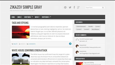 templates for blogger white i am blogger simple gray and responsive blogger templates