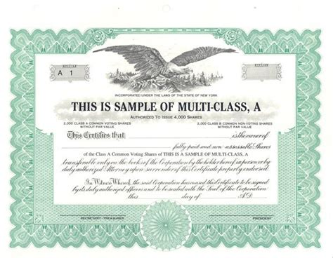 multi class sle stock certificate free download elsevier social