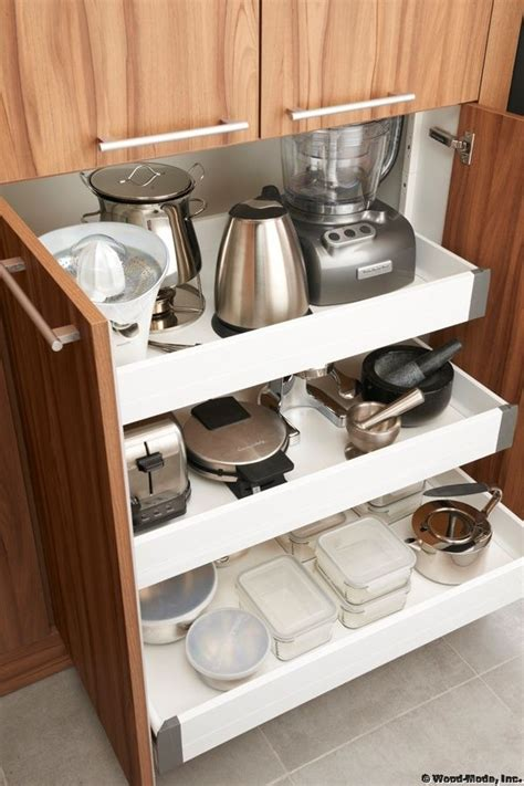 kitchen appliance storage cabinets best 25 kitchen appliance storage ideas on