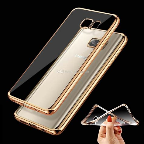 Electroplating Chrome Samsung Note 8 6 3 Inchi for galaxy s7 edge s6 chrome bumper transparent clear soft