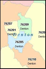 denton county digital zip code map