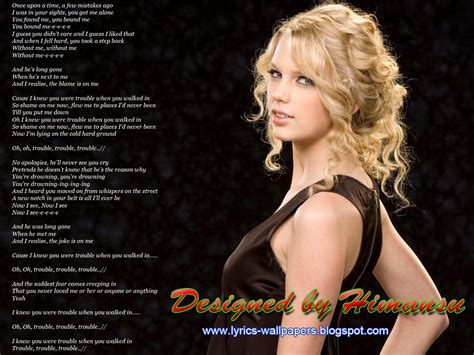 i knew you were trouble lyrics wallpapers january 2013