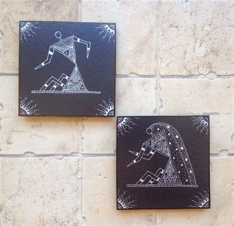 Black Handmade Paper - buy handmade painted warli wall with uv safe