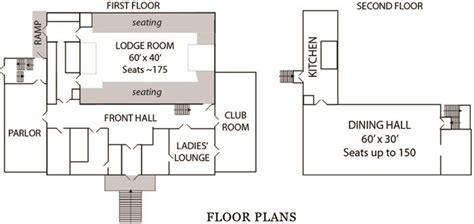 masonic lodge floor plan masonic lodge floor plan first floor plan second floor