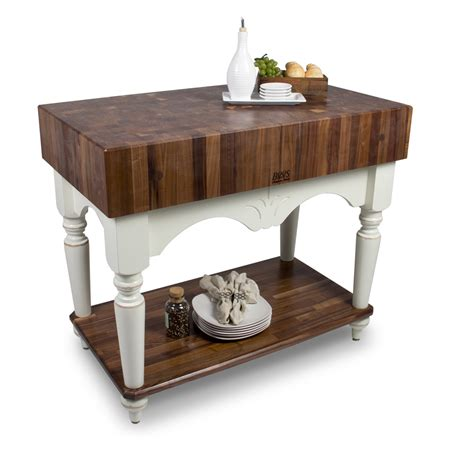 boos walnut calais end grain butcher block table