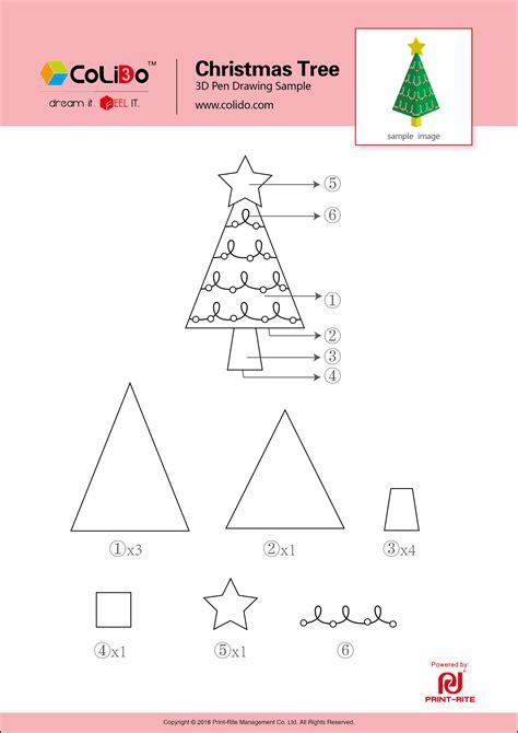 3d printer pen stencils colido 3d pen stencil christmas tree jpg 2484 215 3512 3d펜