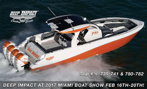 boat show boats deep impact custom boats at 2017 miami boat show boats