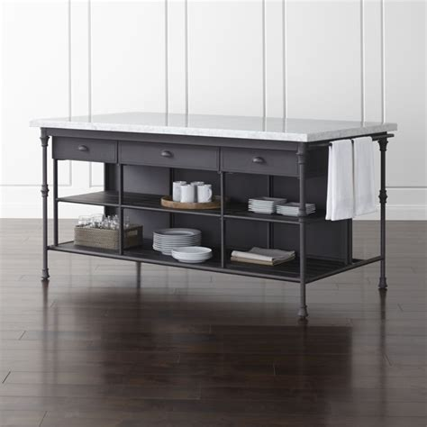 cb2 kitchen island french kitchen 72 quot large kitchen island crate and barrel