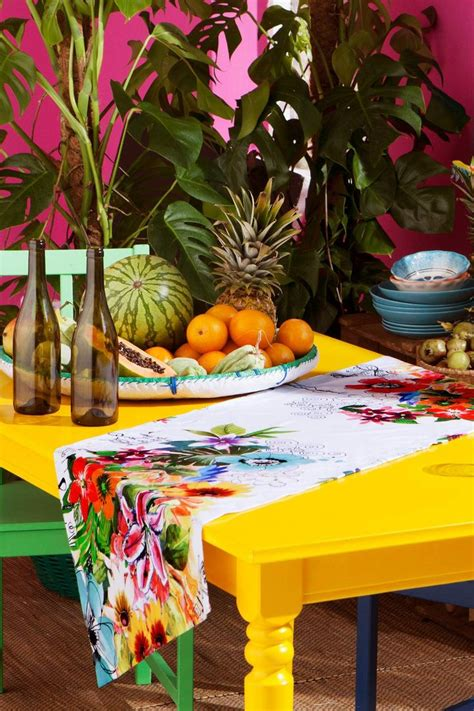 floral table runner desigual jungle desigual home