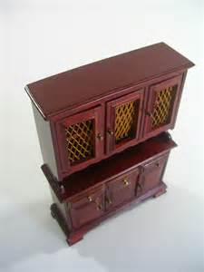 miniature dolls house furniture shackman miniature wood doll house furniture screened kitchen dining room hutch