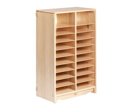 tote storage shelves communityplaythings f599 2 x 40 tote shelf without totes