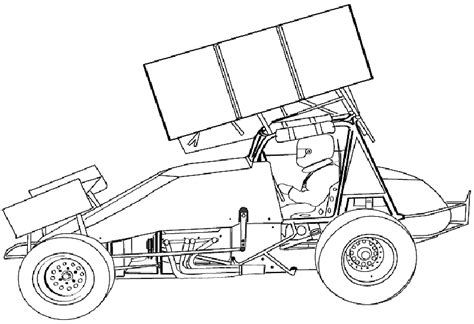 Sprint Car Coloring Pages sprint cars coloring printable coloring pages