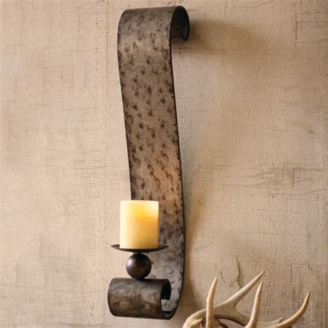 Candle Holder Wall Sconces Galvanized Metal Scrolled Wall Sconce Eclectic Atlanta By Iron Accents