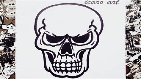 imagenes de una calavera sentada como dibujar una calavera how to draw skull youtube