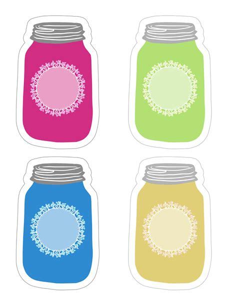 colorful jars colorful jar tag collection free printable the