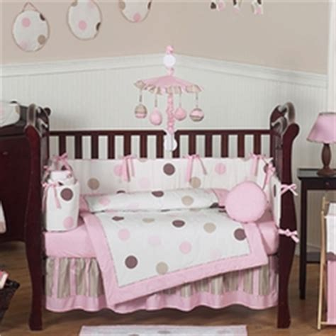 Pink And Brown Polka Dot Crib Bedding Ladybug Baby Bedding Ladybug Crib Bedding Sets