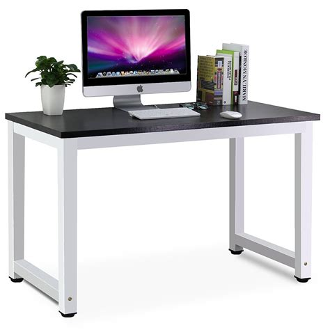 Laptop On A Desk Tribesigns Modern Simple Style Computer Desk Pc Laptop Study Table Workstation For Home Office