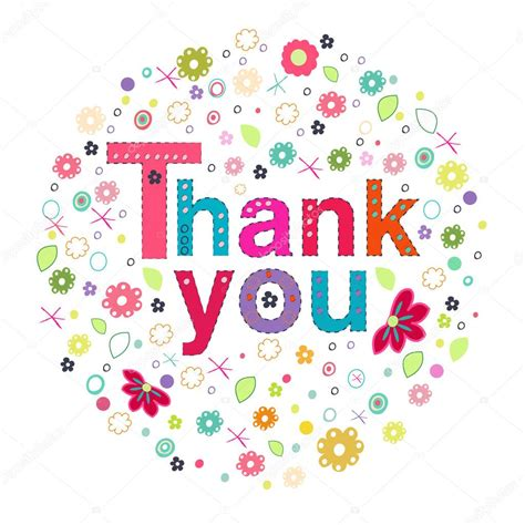 circle thank you card templates ευχαριστώ κύκλο ευχετήρια κάρτα με τα ζωηρόχρωμα λουλούδια